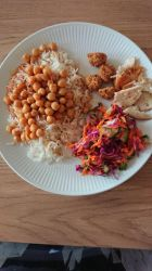 rice and chickpeas and fish  by kari5