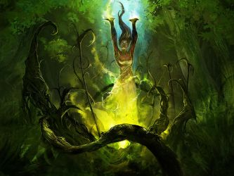 Grove Witch // Ascension : Gift of the Elements by cobaltplasma