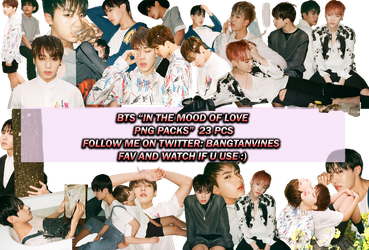 PNG PACK IN THE MOOD OF LOVE PT1 PB 1ST PART by souqoreans