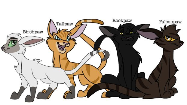 Windclan Rescue Apprentices by Zee-Stitch