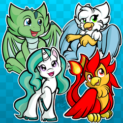 Stickers - Mythological Minis by CindersDesigns
