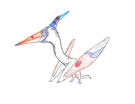 Some sort of pterodactyl by InkGink