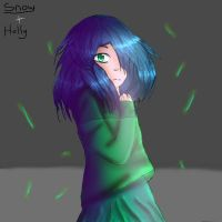 Glitchtale Amber by Snow-MoonArt