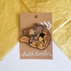 Hellbender | Spirit Animal Pin by killamonstar