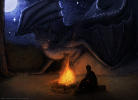 Campfire by Meep--Merp