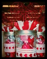 Valentines Day Mason Jars by pippierafrostlin
