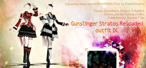 MMD Gunslinger Stratos Reloaded outfit DL by Kowaii-Kaorry