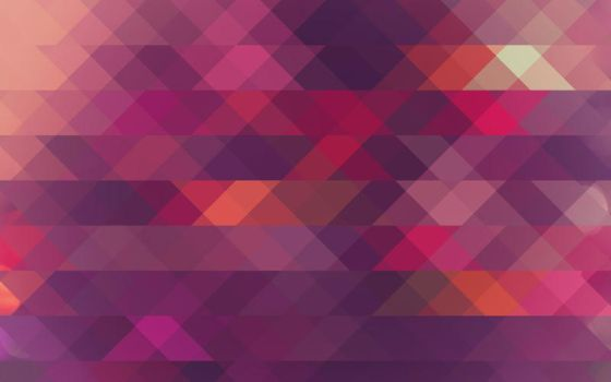 Purple/Orange Triangle Mosaic by R2krw9
