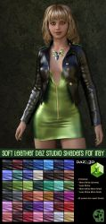 Pd-Soft Leather Daz Studio Shaders for Iray by parrotdolphin