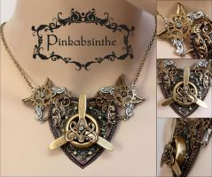 Winged propeller necklace by Pinkabsinthe