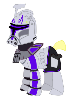 Captain Rex in phase 2 armor in MLPFIM  by Ripped-ntripps