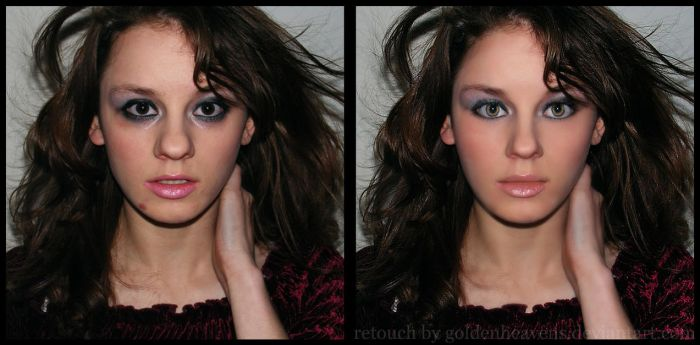 .:Unknow model retouch:. by GoldenHeavens