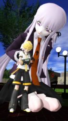Couples Shot: Kirigiri x Len by AdmiralTerk