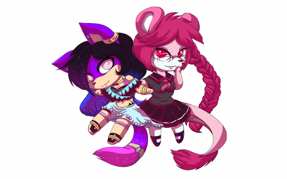 Chibi girls by mephiles101