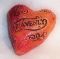 Polymer Clay Fimo Heart by ValerianaSolaris
