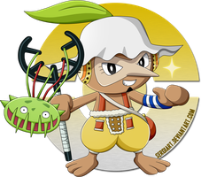 One Piece x Pokemon - Usopp x Nuzleaf