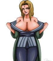 Tsunade tease. by Johnni-Kun