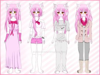 My AU outfit designs for Mangle (Fnaf2 Fanart) by Rierden201