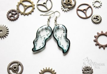 Transparent earrings.  Salvador Dali by Wonder-fox