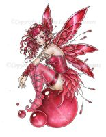 Ruby Orb Fairy by delphineart