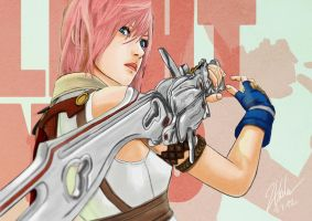 Final Fantasy XIII - Lightning by twovader