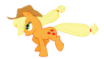 Applejack vector by Duduam