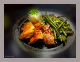 Chicken with green beans,rice   by gintautegitte69