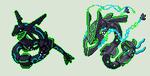 Nuclear Rayquaza + Mega Sprite by Rickthehedgewolf
