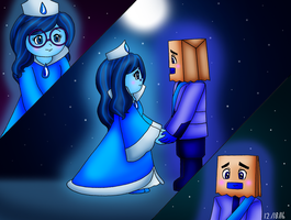Inside Out CG - Sadness x Shame Anime Style by dannichangirl