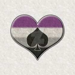 Asexual Pride Heart with Spade by lovemystarfire