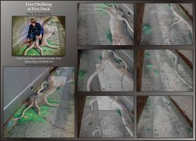 Chalk Art at Five Dock by Valnor