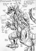EXODUS KAIJU CUTAWAY ILLUSTRATION by Erickzilla
