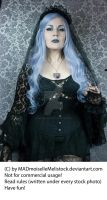 Lavender Goth Stock 004 by MADmoiselleMeliStock