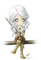 Chibi Ciri - The Witcher 3 by Vichuis