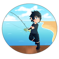 Noctgar, Prince of Fishing by XEmoMidnaX