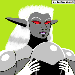 Drow Warrioress by BasileusIoannis