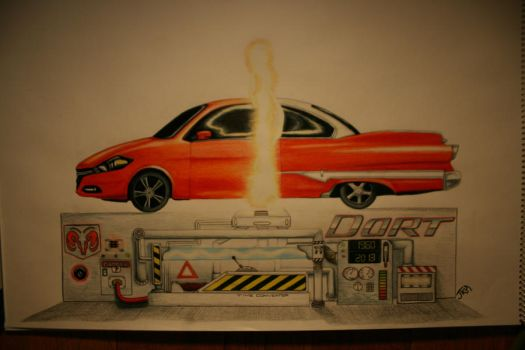 DART EVOLUTION -Traditional Colored Pencil by xxfallenxblackxtears