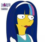 kelpi simpsons style by acestaar01