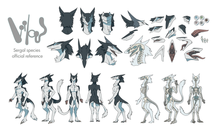 The Official Reference Sheet of Sergals - Part 1 by mick39