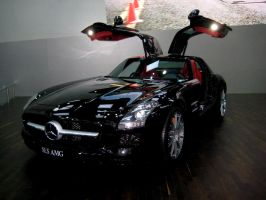Black Mercedes-Benz SLS AMG to LPAGAN by toyonda