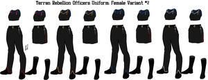 Terran Rebellion Officers Uniform Variant 2 Female by docwinter