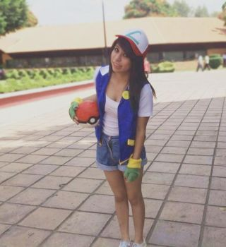 Cosplay Ash Ketchum girl. by ValeeSchmidt