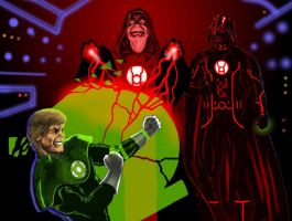 TLIID Star Wars mash-ups Emperor Red Lantern by Nick-Perks