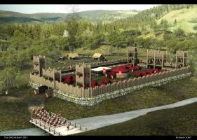Roman Fort by haloband