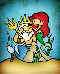 Ariel and Triton by cippow25