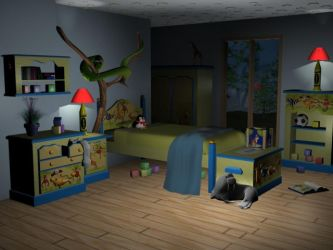 Childrens Room - Lights On by PinkSarah816