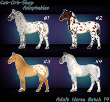 Horse Adoptable Adult Batch - 14 by Cat-Orb-Shop