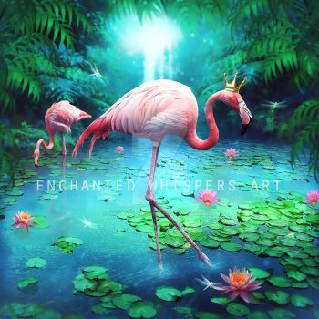 Flamingo King by EnchantedWhispersArt