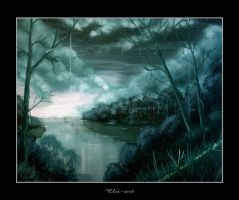 By An Old Southern River by Clu-art