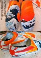 Great Wave Japan canvas shoes by CrimsonVip3r
